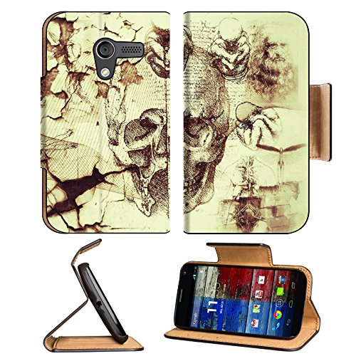 Davinci Artifacts Abstract Kreatiff Design Motorola Moto X Flip Case Stand Magnetic Cover Open Ports Customized Made To Order Support Ready Premium Deluxe Pu Leather 5 7/16 Inch (138Mm) X 3 1/16 Inch (78Mm) X 9/16 Inch (14Mm) Luxlady Mobility Cover Profes front-215182