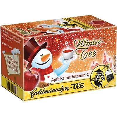 Goldmännchen Wintertee Apfel-Zimt-Vitamin C, Früchtetee, 20 einzeln versiegelte Teebeutel von H & S Tee-Gesellschaft mbH - Gewürze Shop