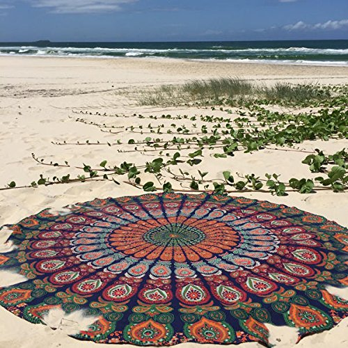 1-X-Indian-Mandala-Round-Roundie-Beach-Throw-Tapestry-Hippy-Boho-Gypsy-Cotton-Tablecloth-Beach-Towel-Round-Yoga-Mat