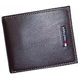 Men's Tommy Hilfiger Wallet Passcase Brown w/ Logo