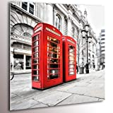 New ! Glass Prints + Printed + + Glass paintings + Wall art print + Image + Picture + Photo + Ready to hang ! London City Stadt 40x40 cm 030217-3