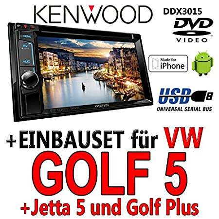 Kenwood-vW golf 5 ddx 3015-2DIN dVD multimédia uSB encastré