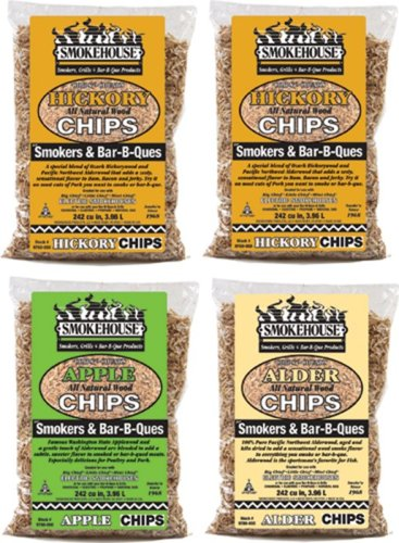 Smokehouse Products Assorted Chips, 4-Pack (Smoker Wood Chips compare prices)