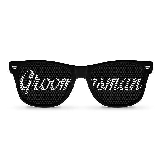 GROOMSMAN black Party Wayfarer Sunglasses