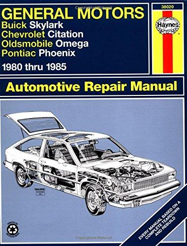Gm Skylark Citation Omega Phoenix 39 80 39 85 Haynes Repair Manuals At Virtual Parking Store