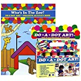 Do A Dot Art Marker Rainbow 6-pack Activity Book Gift Set - Whos In The Zoo?