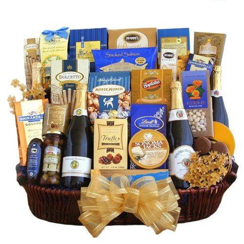 Cheers to Happy New Year! Celebration Gift Basket by Organic Stores
