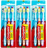 3 Pack Colgate Extra Clean Toothbrushes Medium (9 Toothbrushes (3 Packs))