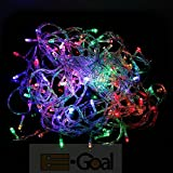 E-Goal 10M 100 LED String Fairy Light for Wedding Christmas and Party (Multi-Color 100 LED with Tail Plug)