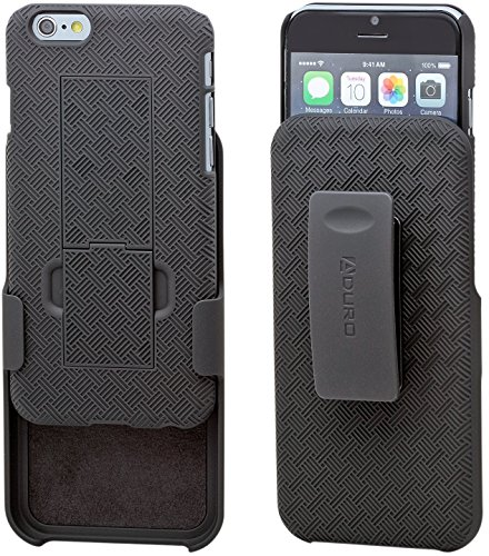 iPhone 6S / 6 Case, Aduro COMBO Shell & Holster Case Super Slim Shell Case w/ Built-In Kickstand + Swivel Belt Clip Holster for Apple iPhone 6S / 6 (Iphone 6 Case With Belt Clips compare prices)
