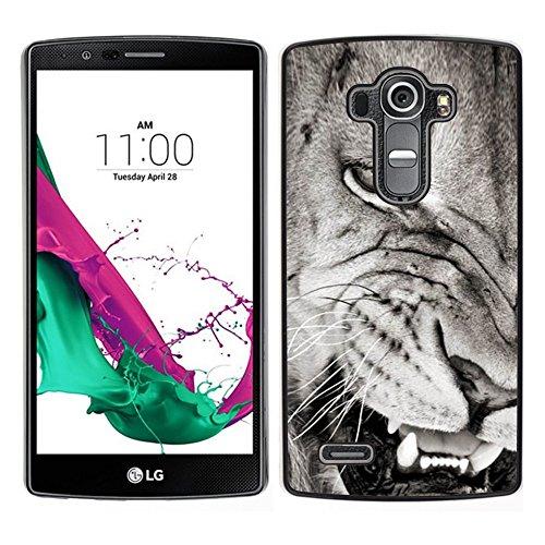 Smartphone Custodia protettiva Cassa Duro della copertura per il cellulare Protective Case for LG G4 / CECELL Phone case / / Angry Lion Teeth Black White Nose /