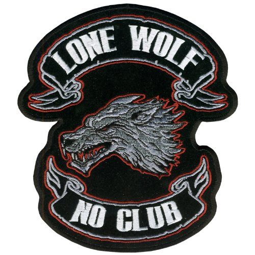 Hot Leathers Lone Wolf Embroidered Patch (1