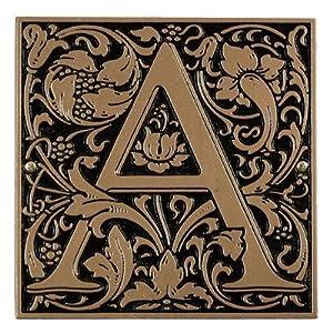 Amazoncom cloister monogram wall decor finish bronze for Letter g wall decor