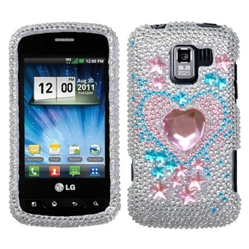 Asmyna Lgvs700Hpcdm201Np Luxurious Dazzling Diamante Case For Lg: Vs700 (Enlighten/ Gelato Q), Vm701 (Optimus Slider), Ls700 (Optimus Slider) - 1 Pack - Retail Packaging - Star Track