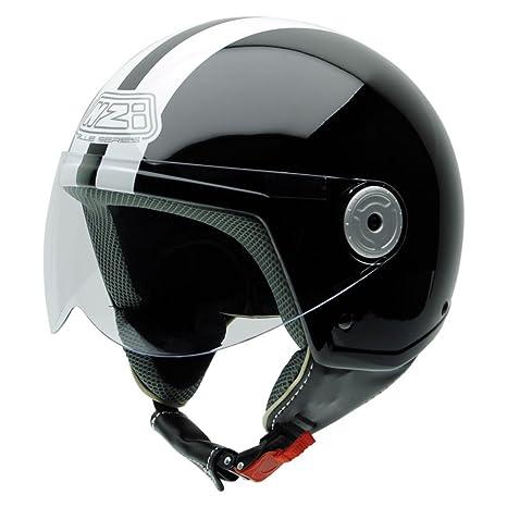 NZI 150251G323 Vintage II CBW Casque de Moto, Noir/Blanc, Taille : XL