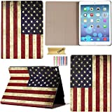 iPad Pro Case, Dteck(TM) Ultra Slim Lightweight Trifold Leather Magnetic Case with Auto Wake/ Sleep Function Smart Cover for Apple iPad Pro 12.9 inches iOS 9 Tablet, US Flag