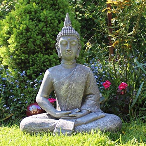 Buddha statue gro 65cm sitzend deko figur f r wohnzimmer for Buddha deko wohnzimmer