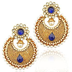 Amazon.com: Blue flower ethnic indian pakistani Artisan jewelry blue