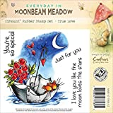 Crafter's Companion Moonbeam Meadow Holiday EZMount Stamp Set, 4.75-Inch by 4.75-Inch, True Love
