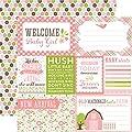 Echo Park Bundle of Joy 2 Welcome Baby Girl Scrapbook Paper
