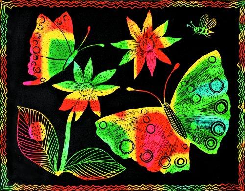 Melissa & Doug Scratch Art Paper - Multicolor w/Stylus (12 sheets)