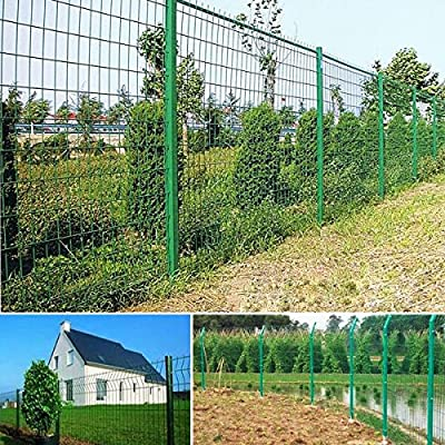 Popamazing Green Garden PVC Coated Steel Wire Mesh Fence 10m x 1.2m
