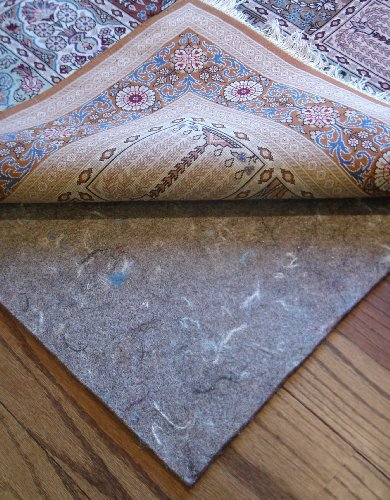 "6' Square Rug Pads for Less Super Premium (TM) Dense 100% Felt Jute 3/8"" Thick Rug Pad for Hard Floors - Includes RPFL (TM) Rug and Pad Care Guide"
