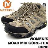 メレル レディース モアブミッドゴアテックス デューン MERRELL WOMEN'S MOAB MID GORE-TEX DUNE J87318 女性用 トレッキングシューズ 登山用 ランキングお取り寄せ