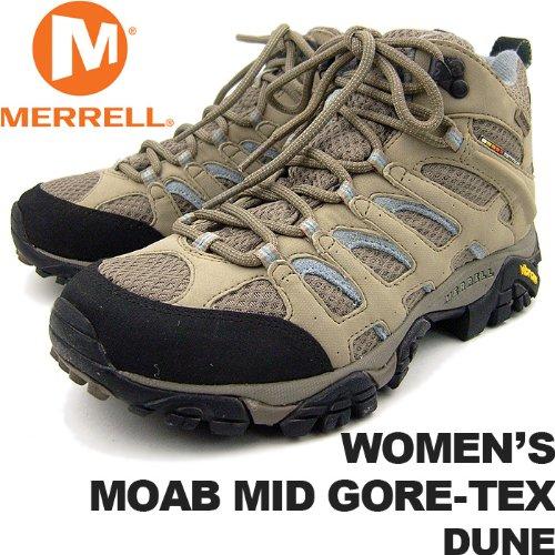 DUNE US7.5(24.5cm) メレル レディース モアブミッドゴアテックス デューン MERRELL WOMEN'S MOAB MID GORE-TEX DUNE J87318 女性用 トレッキングシューズ 登山用
