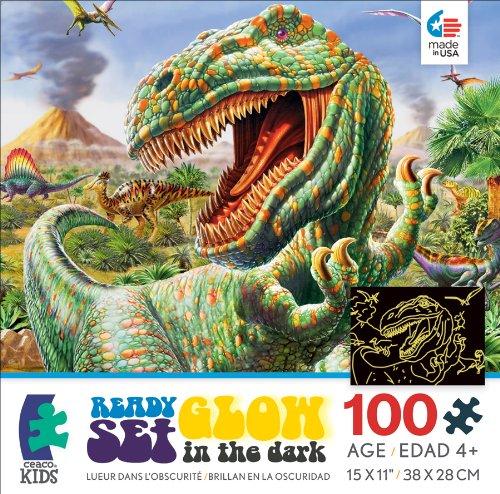 Ceaco Ready Set Glow Dinoscape Jigsaw Puzzle
