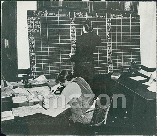 Vintage Photo of Election Board, Franklin Roosevelt vs. Alf Landon (ABD-955)