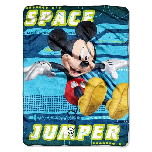 Disney Mickey Mouse Micro Raschel Throw - Space Jumper front-93508