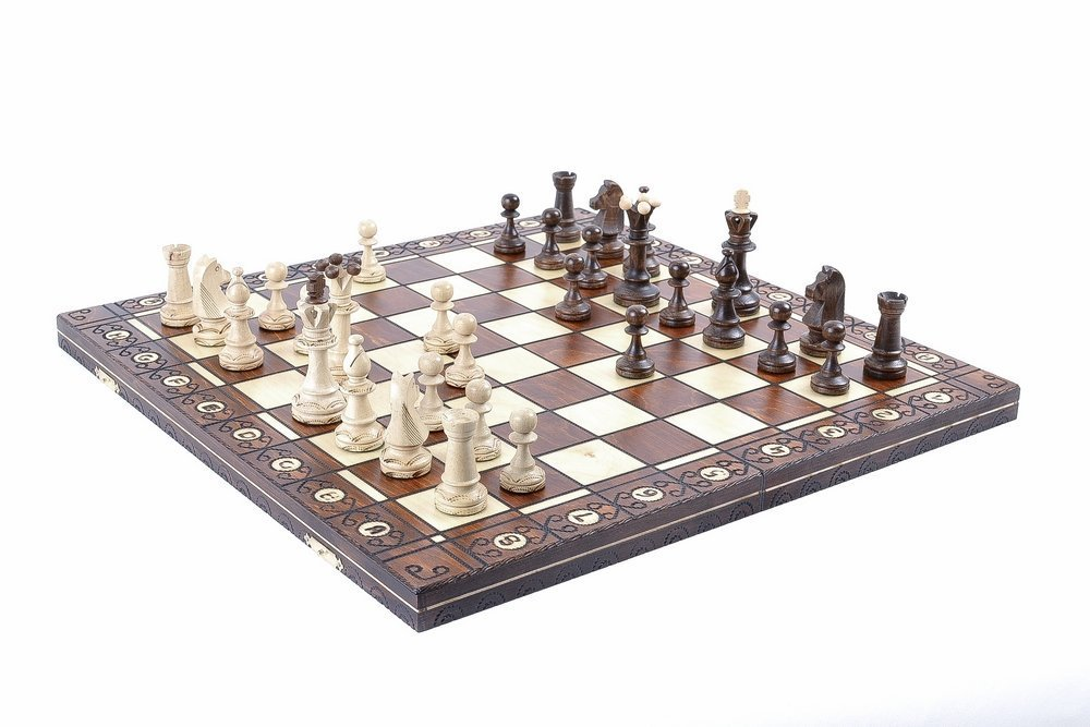 Wegiel Chess Set - Consul Chess Pieces and Board - European Wooden Handmade Game 0
