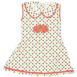 Rush Me Baby Girls' Dress (S.R.1017_2 Years, 2 Years, White)