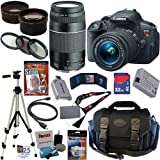 Image of Canon EOS Rebel T5i 18.0 MP CMOS Digital Camera with EF-S 18-55mm f/3.5-5.6 IS STM Zoom Lens + EF 75-300mm f/4-5.6 III Telephoto Zoom Lens + Telephoto & Wide Angle Lenses + 12pc Bundle 32GB Deluxe Accessory Kit