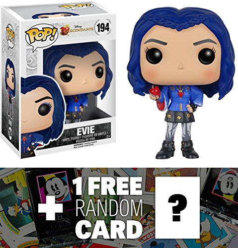 Evie: Funko POP! x Disney Descendants Vinyl Figure + 1 FREE Classic Disney Trading Card Bundle (078010)