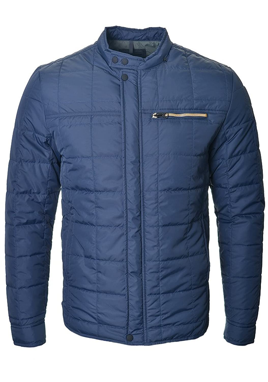 Replay Herren Zip Pocket Padded Jacket, Blau