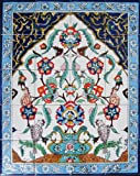 Decorative Ceramic Tiles: Hand Painted Mosaic Murals Home Kitchen Bathroom Backsplash Swimming Pool Patio Accent Wall Art 30 Inch x 24 Inch