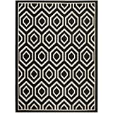 "Safavieh Courtyard Collection CY6902-266 Black and Beige Area Rug, 5 feet 3 inches by 7 feet 7 inches (5'3"" x 7'7"")"