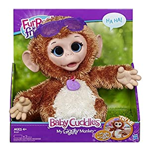 FurReal Friends Baby Cuddles My Giggly Monkey Pet por Hasbro