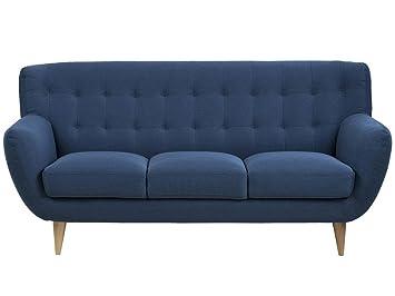 """Sofa Stoffsofa Couch Dreisitzer Stoff Wohnzimmermöbel """"Osman I"""" (3-Sitzer) (Dunkelblau)"""