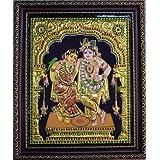 Kum Kum Gallery Radha Krishna Tanjore Painting ( Multicolor , 30.48 X 38.1 Cm )