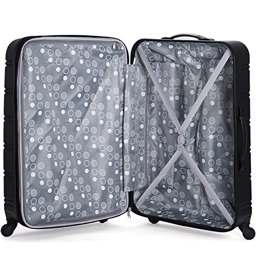 Rockland Luggage Melbourne 20 Inch Expandable Abs Carry On Luggage, Black, One Size