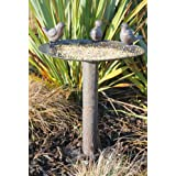 Garden Bird Bath - Antique Bronze Birdbath Feeder