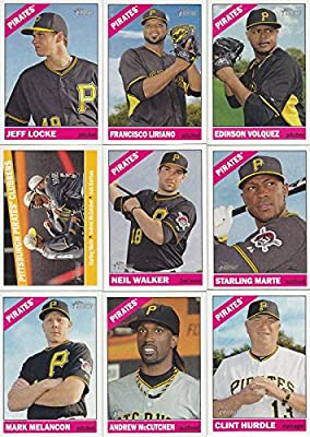 Pittsburgh Pirates 2015 Topps Heritage MLB Baseball Series Complete Mint Basic 15 Card Team Set with Andrew McCutchen Gerrit Cole Plus