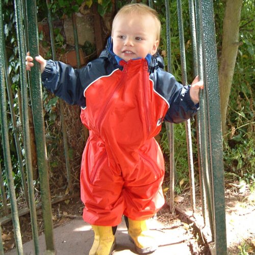 Bushbaby Hot Tot Snowsuit Red/Navy 1-2yrs