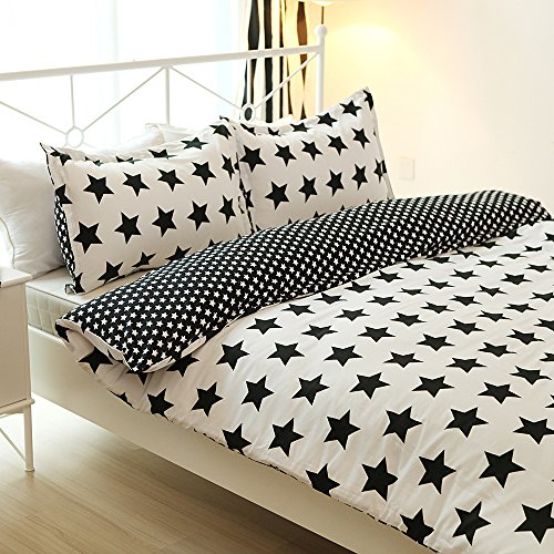 Great Features Of Vaulia Lightweight Tiny Star Printed Microfiber Duvet Cover Sets, Reversible Color...