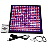Niello 45W LED Grow Light Panel,Strong Reflection Red Blue Hanging Growing Lights Fixture with Switch for Hydroponic Aquatic Indoor Plants,225 LEDs 6-Band Full Spectrum Include UV IR