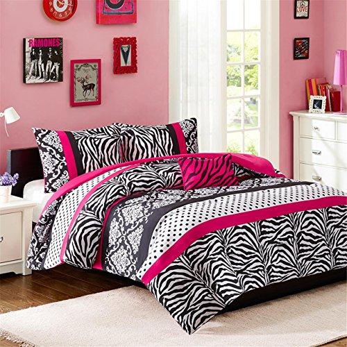 Mi-Zone Reagan Comforter Set, Pink, Full/Queen (Zebra Full Bedding compare prices)