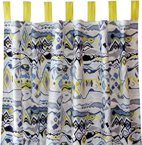 Caden Lane Boy Curtain Panels, Ikat Citrus